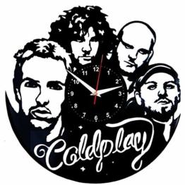 EVEVO Coldplay Wanduhr Vinyl Schallplatte Retro-Uhr groß Uhren Style Raum Home Dekorationen Tolles Geschenk Wanduhr Coldplay - 1