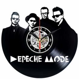 EVEVO Depeche Mode Wanduhr Vinyl Schallplatte Retro-Uhr groß Uhren Style Raum Home Dekorationen Tolles Geschenk Wanduhr Depeche Mode - 1