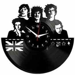 EVEVO Rolling Stones Wanduhr Vinyl Schallplatte Retro-Uhr groß Uhren Style Raum Home Dekorationen Tolles Geschenk Uhr Rolling Stones - 1