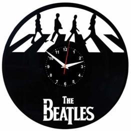 EVEVO The Beatles Wanduhr Vinyl Schallplatte Retro-Uhr groß Uhren Style Raum Home Dekorationen Tolles Geschenk Wanduhr The Beatles - 1
