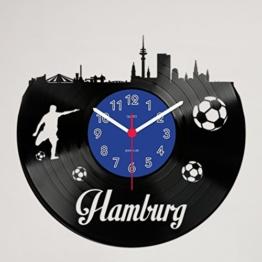Gravinci.de Schallplatten-Wanduhr Hamburg Fan - 1