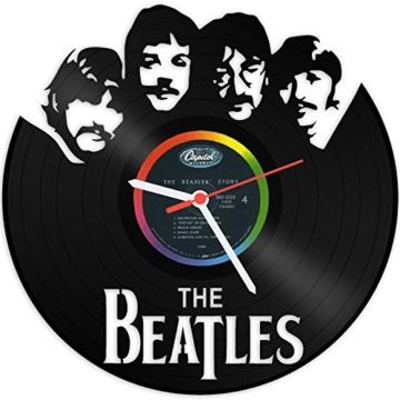 GRAVURZEILE The Beatles Wanduhr aus Vinyl Schallplattenuhr Upcycling Design-Uhr Wand-Deko Vintage-Uhr Wand-Dekoration Retro-Uhr Made in Germany - 1
