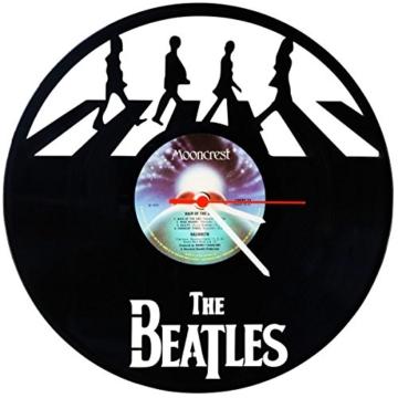 """GRAVURZEILE Wanduhr aus Vinyl Schallplattenuhr """"The Beatles 2017"""" Upcycling Design Uhr Wand-Deko Vintage-Uhr Wand-Dekoration Retro-Uhr Made in Germany - 1"""