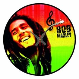Iconic Bob Marley Vinyl Schallplatte Wanduhr - 1