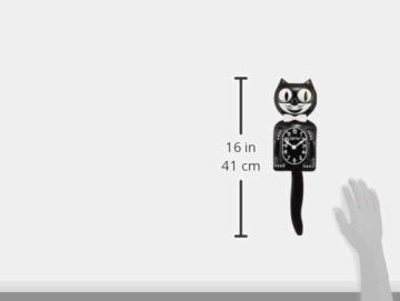 Kit-Cat-Wanduhr, schwarz - 7