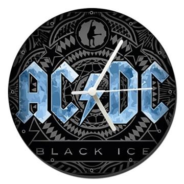 MasTazas AC/DC ACDC Black Ice Wanduhren Wall Clock 20cm - 1