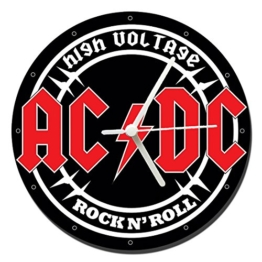 MasTazas AC/DC ACDC High Voltage Wanduhren Wall Clock 20cm - 1