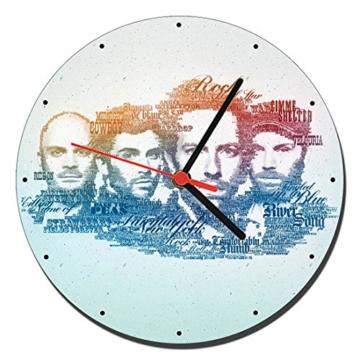 MasTazas Coldplay A Wanduhren Wall Clock 20cm - 1