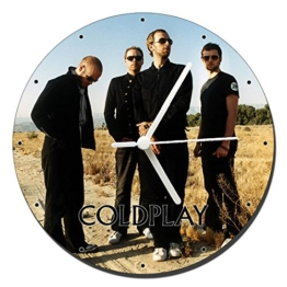 MasTazas Coldplay B Wanduhren Wall Clock 20cm - 1