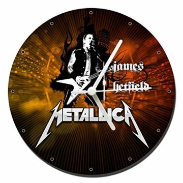 MasTazas Metallica James Hetfield Wanduhren Wall Clock 20cm - 1