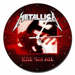 MasTazas Metallica Kill Em All Wanduhren Wall Clock 20cm - 1