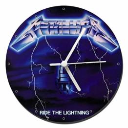 MasTazas Metallica Ride The Lightning Wanduhren Wall Clock 20cm - 1