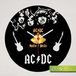 Schallplattenuhr AC/DC - 1