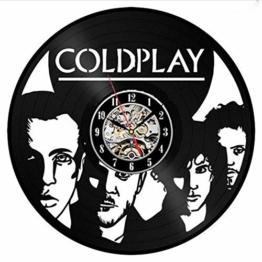 Txyang Coldplay Schallplatte Wanduhr Dekor Fan Kunst Handgemachtes Einzigartiges Design Original Geschenk - 1