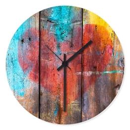 Wandkings Wanduhr mit farbenfrohen Motiven - Wähle ein Motiv - Grafitti Herz - 1