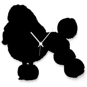 """Wandkings Wanduhr """"Pudel"""" aus Acrylglas, in 11 Farben erhältlich (Farbe: Uhr = Schwarz matt; Zeiger = Weiß) - 1"""