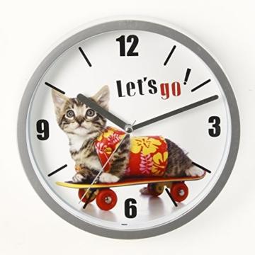 Wanduhr Katze Fun–D 22cm–Kätzchen - 2