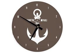 Wanduhr Uhr Sankt Pauli Hamburg WU015 (braun) st pauli - 1