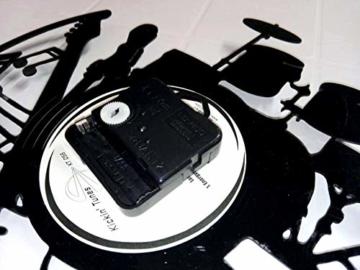 Wanduhr Vinyl Schallplatte LP 33U Instant Karma Geschenk Vintage Handmade–Tiere Haus I Love Dogs Hund Hunde - 4