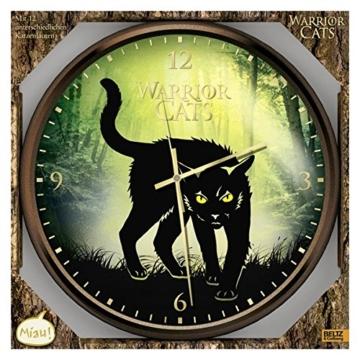 Warrior Cats - Wanduhr mit Katzenlauten - 1
