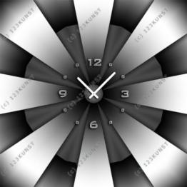 3613 Dixtime Designer Wanduhr, Enigma, quadratische Wanduhren, stilvolle Bürouhr, Wohnraumuhr 50cm x 50cm - 1