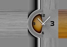 6101 Dixtime Designer Wanduhr, Wanduhren, Moderne Wohnraumuhr 50cm x 70cm - 1
