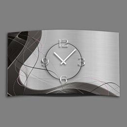 Abstrakt grau Designer Wanduhr modernes Wanduhren Design leise kein ticken dixtime 3DS-0053 - 1