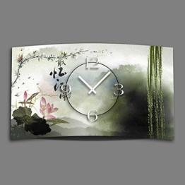 Asia Lotus Designer Wanduhr modernes Wanduhren Design leise kein ticken dixtime 3D-0090 - 1