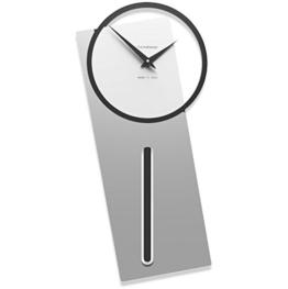 CalleaDesign Sherlock Wanduhr mit Pendel Aluminium - 1