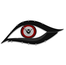 Calleadesign - Wanduhr Auge, Feuerrot - 1