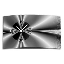 Digital Designer Art abstrakt sw Designer Wanduhr modernes Wanduhren Design leise kein ticken DIXTIME 3DS-0349 - 1