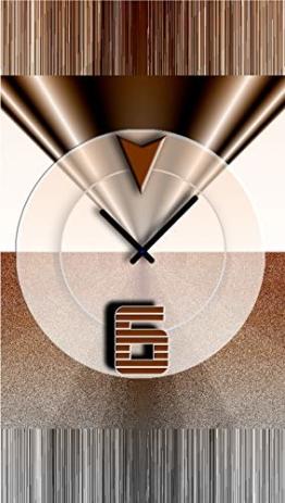 DIXTIME Abstrakt Braun Designer Wanduhr Modernes Wanduhren Design Leise Kein Ticken 3D-0441 - 1