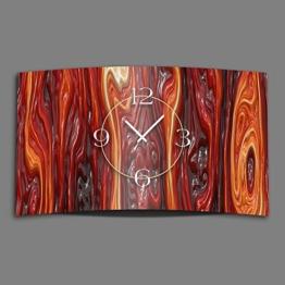 geschmolzenes Glas rot Designer Wanduhr modernes Wanduhren Design leise kein ticken dixtime 3D-0183 - 1