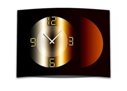 Wanduhr XXL 3D Optik Dixtime braun bronze Kreis 50x70 cm leises Uhrwerk GR-038 - 1