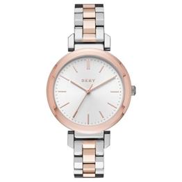 DKNY Damen Analog Quarz Uhr mit Edelstahl Armband NY2585 - 1