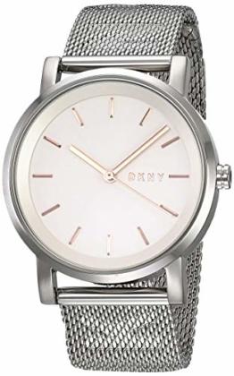 DKNY Damen Analog Quarz Uhr mit Edelstahl Armband NY2620 - 1