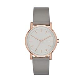 DKNY Damen Analog Quarz Uhr mit Leder Armband NY2341 - 1
