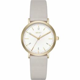 DKNY Damen Analog Quarz Uhr mit Leder Armband NY2507 - 1
