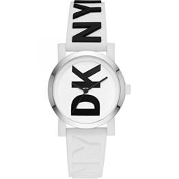 DKNY Damen Analog Quarz Uhr mit Leder Armband NY2725 - 1