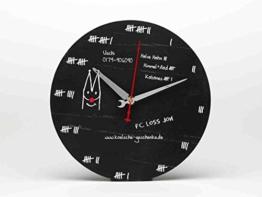 Ausgefallene Wanduhr ~ Bierdeckel ~ Köln Uhr schwarz analog kölsch Kölner Dom - 1