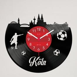 Gravinci.de Schallplatten-Wanduhr Köln Fan - 1