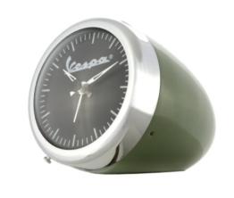 Tischuhr mit Wecker FORME VESPA Vintage, Scheinwerferlook, grün, Ø 70mm - 1