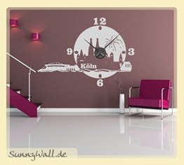 Wandtattoo Uhr KARLSSON Skyline Köln Wanduhr Stadt Gold Gr2 - 1