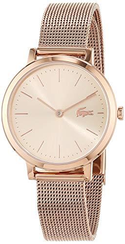 Lacoste Damen Analog Quarz Uhr mit Roségold Armband 2001051 - 1
