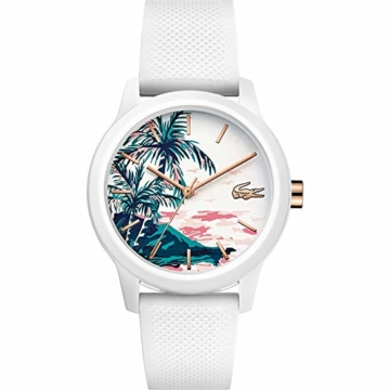 Lacoste Damen Analog Quarz Uhr mit Silikon Armband 2001085 - 1