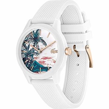 Lacoste Damen Analog Quarz Uhr mit Silikon Armband 2001085 - 2