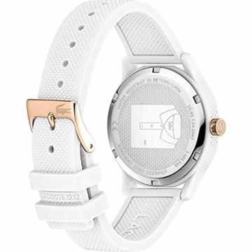 Lacoste Damen Analog Quarz Uhr mit Silikon Armband 2001085 - 3