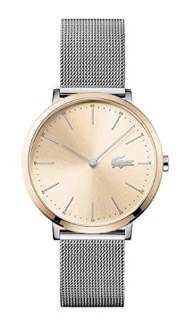 Lacoste Damen Datum klassisch Quarz Uhr mit Edelstahl Armband 2001002 - 1