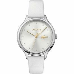 Lacoste Damen Datum klassisch Quarz Uhr mit Leder Armband 2001005 - 1